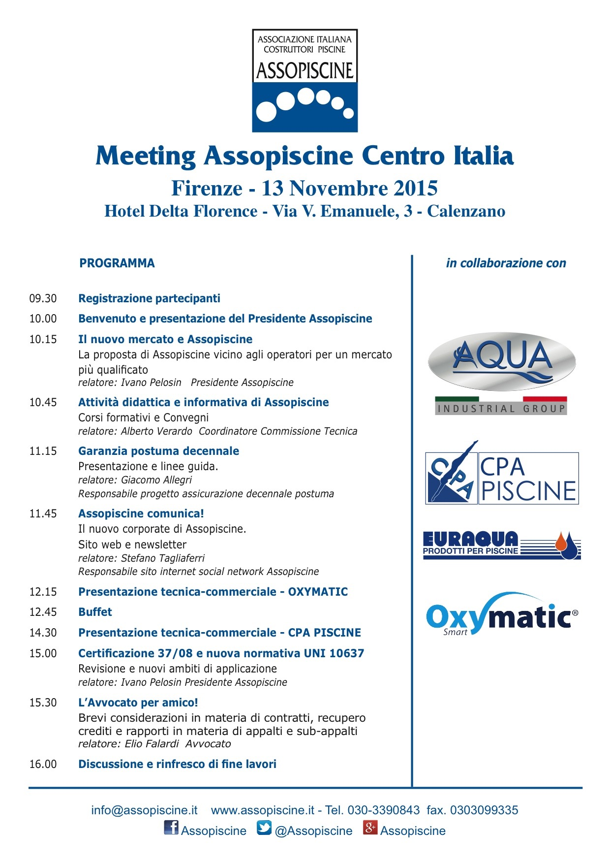 OXYMATIC MEETING FIRENZE