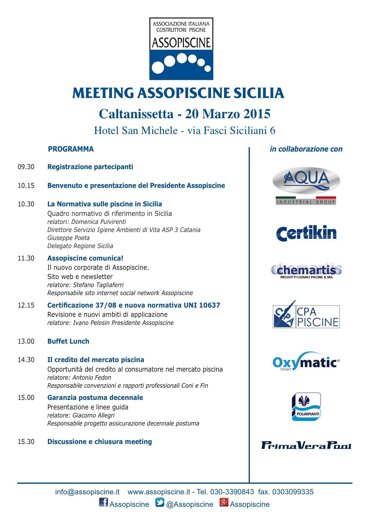 OXYMATIC MEETING ASSOPISCINE CALTANISSETTA